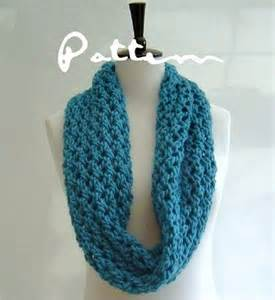 Infinity Scarf Knitting Pattern Knitting Pattern Chunky Cowl Infinity Scarf By