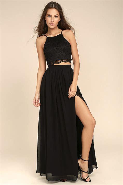 Set 2in1 Longdress black dress lace dress two dress maxi dress