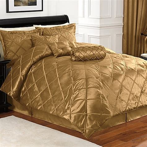 buy braxton 7 piece full comforter set in gold from bed