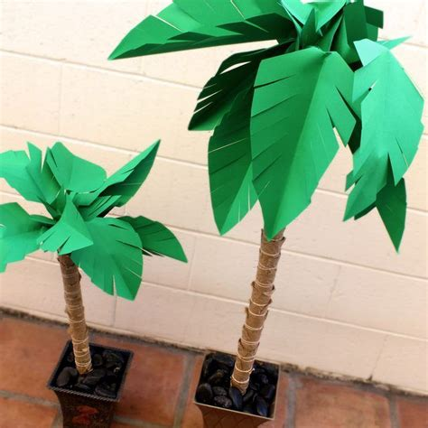 rolled paper palm trees how to make a paper palm tree paper palm tree palm and summer