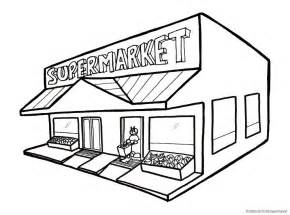 Supermarket Building Clipart Black And White  Clipartsgramcom sketch template