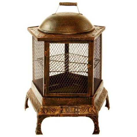 oakland living pentagon pit chiminea 8026 ab the