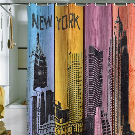 curtains nyc irena orlov new york downtown shower curtain