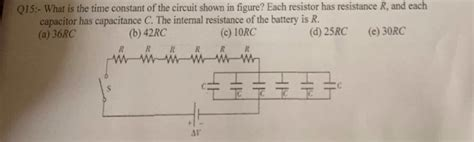 when the resistor r in fig 19 59 is what is the time constant of the circuit shown in chegg
