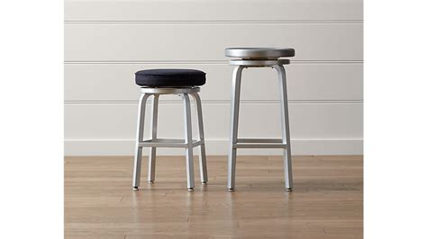 Spin Swivel Backless Bar Stool by Spin Swivel Backless Bar Stool Crate And Barrel