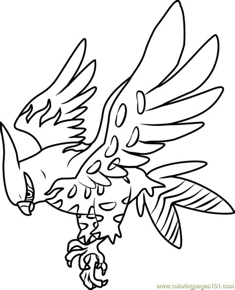 pokemon coloring pages talonflame talonflame coloring page talonflame pokemon coloring page