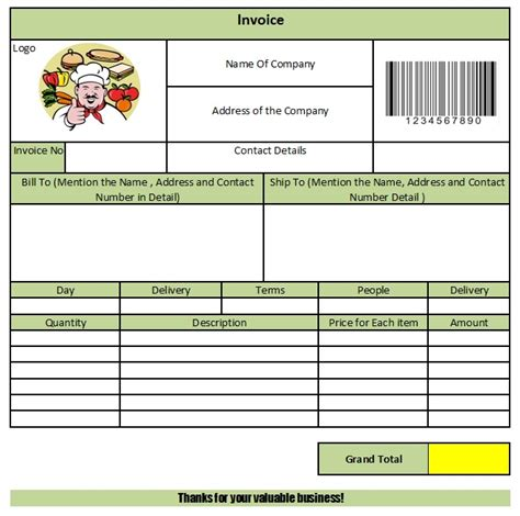 28 Catering Invoice Templates Free Download Demplates Catering Invoice Template Excel