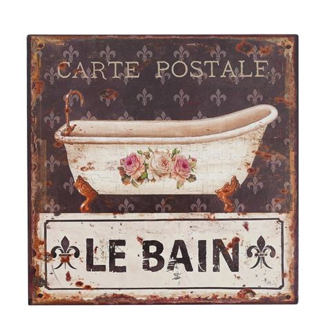 le bain sign bathroom metal sign le bain wall dekoration bathtub bathroom 30x30 cm