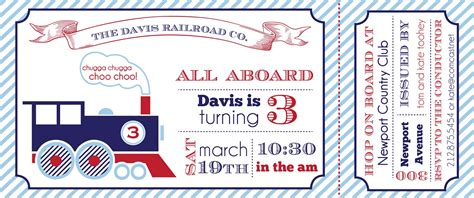 diy train party invitations party invitations ideas