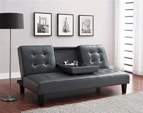 sofa bed with cup holder convertible sofa bed with cup holder dhp furniture