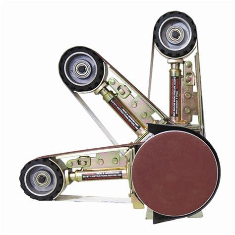 bench belt grinder multitool belt grinder 2x36 quot attachment fits standard bench grinders to provide a fast