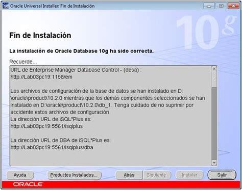 tutorial oracle application server 10g tutorial de instalacion de oracle 10g reamej