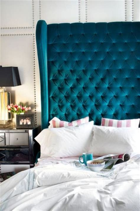 teal velvet headboard 36 chic and timeless tufted headboards shelterness