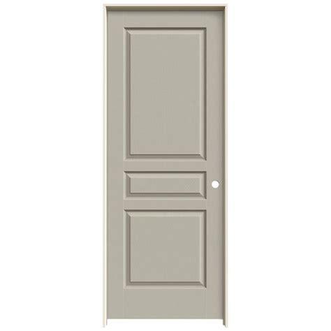 jeld wen 30 in x 78 in woodgrain 6 panel primed molded jeld wen 30 in x 78 in cambridge primed right hand