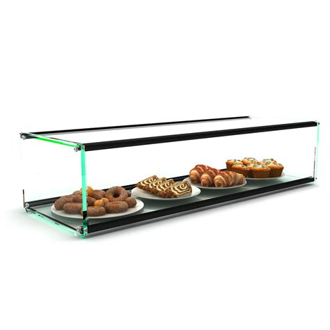 Countertop Glass Pastry Display by Glass Non Refrigerated Rectangular Small Display Cabinet