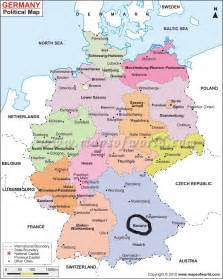 A Map Of Germany by Simple Electronics