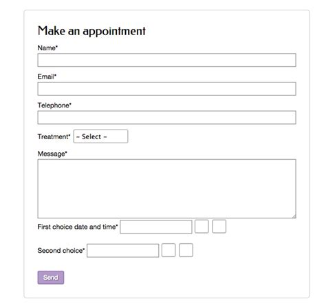 hair salon appointment book template hair salon