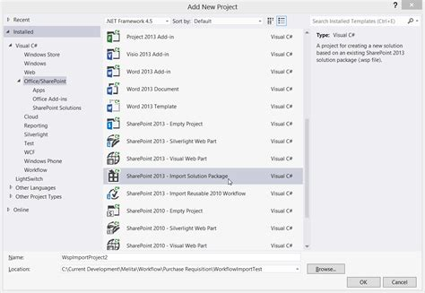 visual studio 2013 workflow tutorial importing a sharepoint 2013 workflow in visual studio