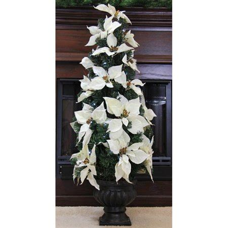 prelit battery operated potted christmas tree northlight 3 ft pre lit battery operated white artificial poinsettia potted tree