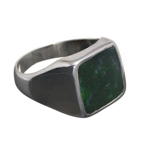 jade albite square sterling silver ring regnas jewelry