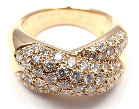 cartier wide yellow gold band ring at 1stdibs