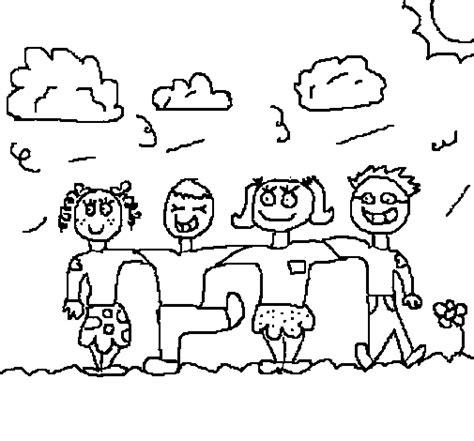 imagenes amistad para colorear grupo de amigos para colorear