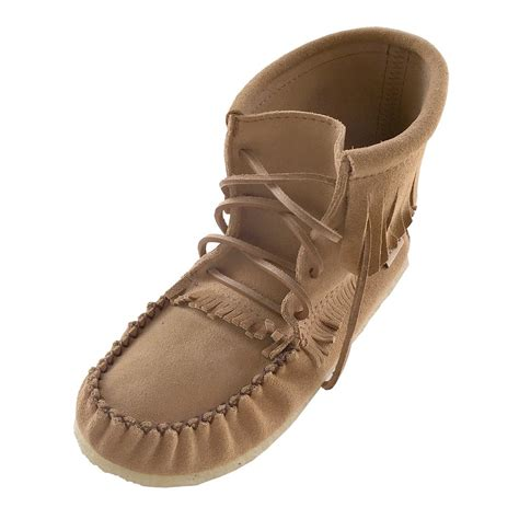 moccasins boots for s apache style genuine suede leather ankle high
