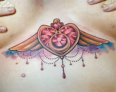 jessiecampolo beautiful sternum tattoo sternum heart jewel