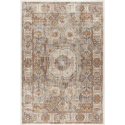 7 X 9 Area Rugs Tayse Rugs Fairview Ivory 6 Ft 7 In X 9 Ft 6 In Area Rug Fvw3102 7x10 The Home Depot