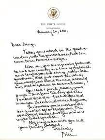 on abc george w bush s inauguration day letter to