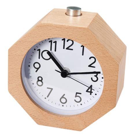 Bedside Table Clock Wood Digital Silent Mute Table Bedside Snooze Lazy Alarm