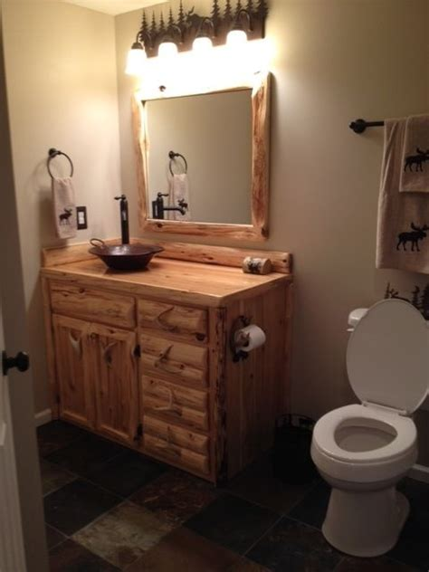 custom made bathrooms custom rustic cedar bathroom vanity by king of the forest
