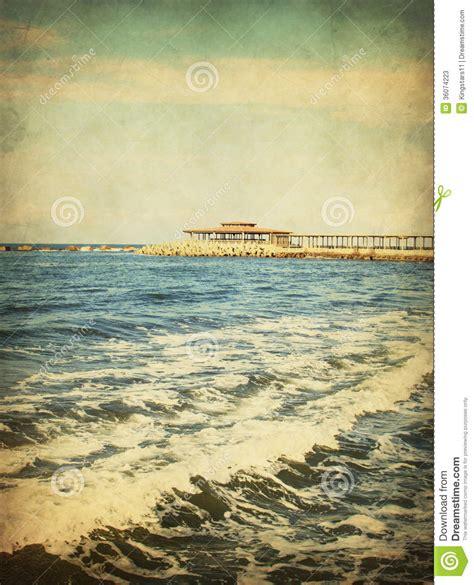 imagenes vintage mar paisaje marino del vintage ondas del mar fotos de archivo