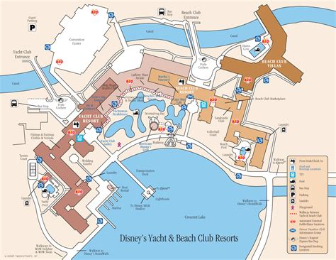 Disneys Yacht Club Hotel Floor Plan - disney yacht and club resort map