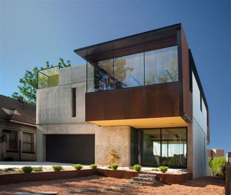 concrete and wood house modern designs within gallery of wood concrete glass and steel house design at oklahoma