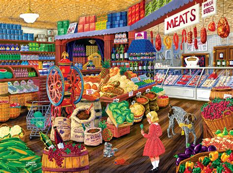 browse the puzzle shop the corner grocery jigsaw puzzle puzzlewarehouse com