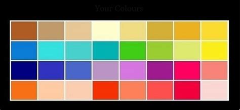 color types 4 season color analysis