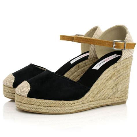 black raffia wedge espadrille shoes buy black raffia