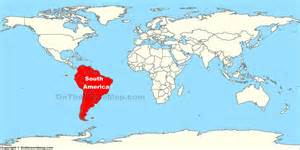south america location on the world map