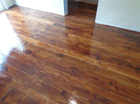 How To Make Concrete Floors Look Like Wood by Another Picture Of Our Concrete Wood Faux Finish The