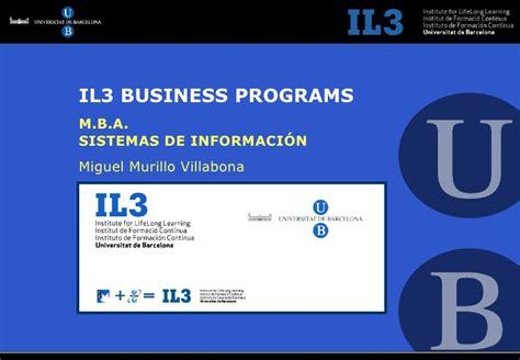 Ub Mba Vs Yeal Mba by Ub Mba Sistemas De Informaci 243 N