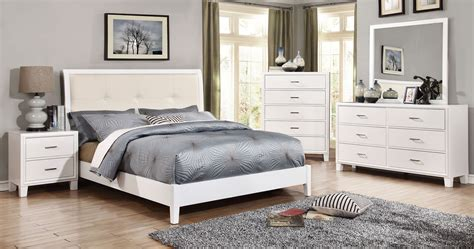 youth white bedroom furniture enrico i white youth upholstered bedroom set from