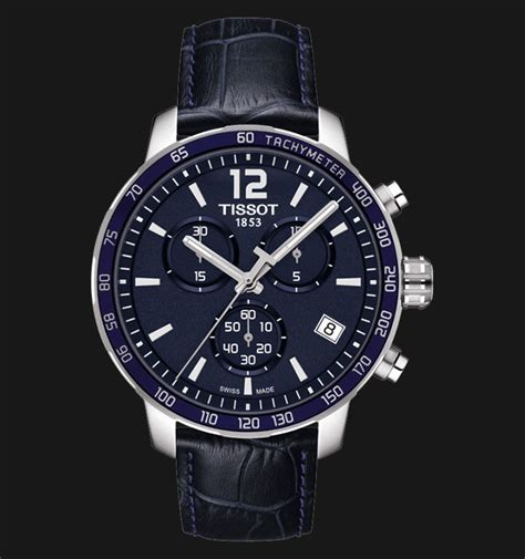 Jam Tangan Tissot Chronograph tissot quickster chronograph blue leather t095 417 16 047