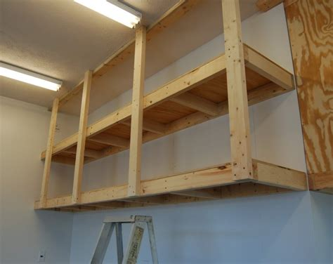 How To Make Hanging Garage Shelves by 2x4 Garage Shelves For Space Addition The Better Garages