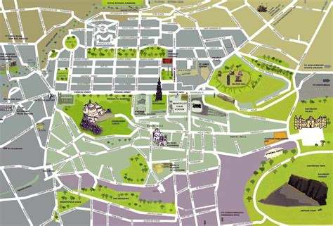 printable maps edinburgh detailed tourist map of edinburgh city center edinburgh