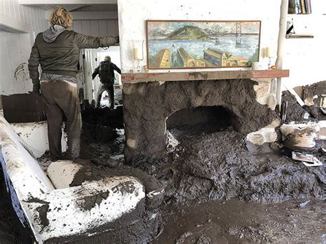 Backyard Discovery Slide California Mudslide Damage Pictures Images Of Montecito