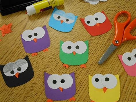 owl paper craft template hoot hoot owl paper craft owl name tags owl paper and