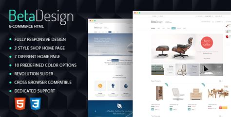 themeforest yonkers beta design e commerce html template theme for u