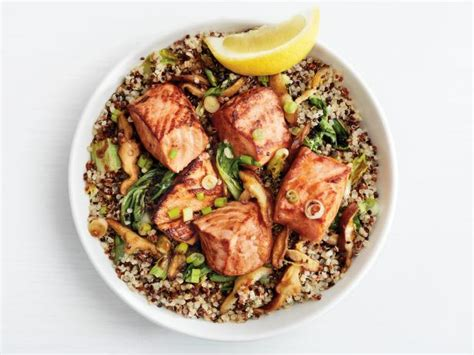 cbell kitchen recipe ideas teriyaki salmon quinoa bowls recipe food network kitchen food network