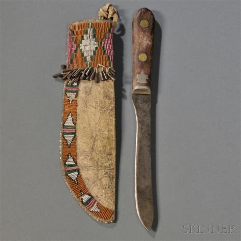 sheath and knife cheyenne beaded buffalo hide knife sheath knife sheath